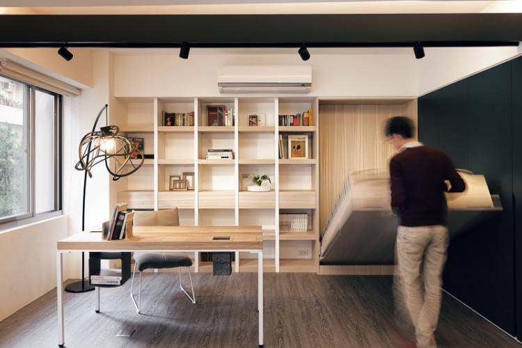 Guest Bedroom And Home Office With A Murphy  Bed