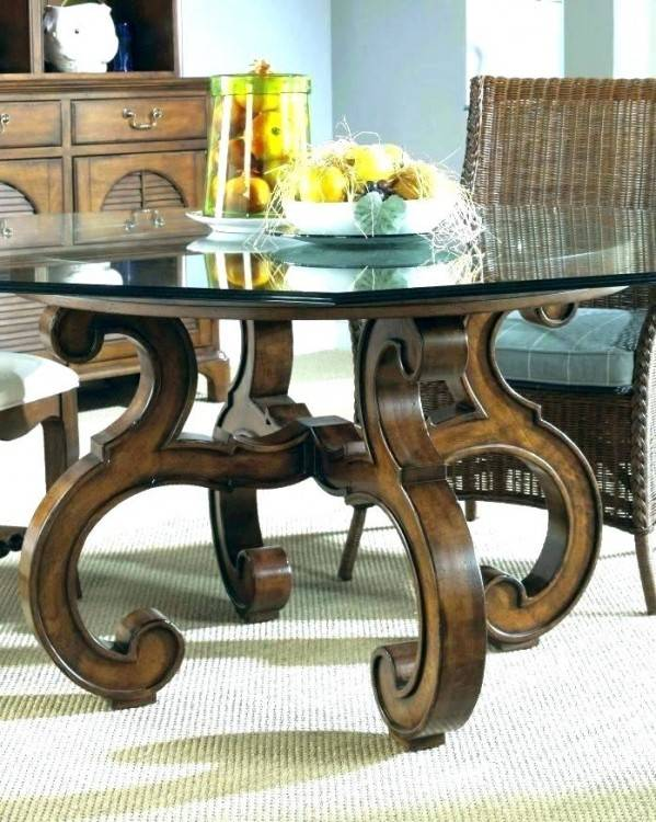 Unique 60 Inch Round Dining Table With Glass Top And Pedestal Base with  regard to Unique Dining Room