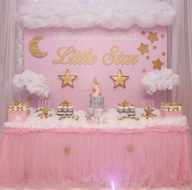 OFILA Twinkle Twinkle Little Star Backdrop 8x6