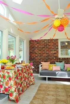 ceiling party decoration ideas