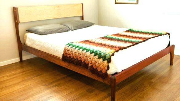 wood plank bed frame park queen by furniture