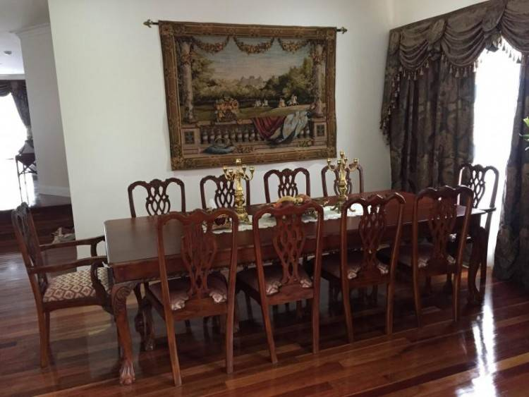 oval yew dining table reproduction on room furniture chairs