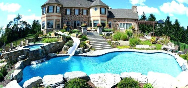 swimming pool designs with slides ultra outdoors 7