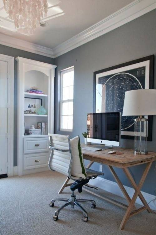 Amber's home office began as a stylish space with plenty of potential