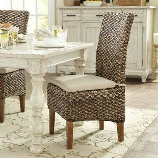 Mason Ivory Dining Chair with Espresso Wood