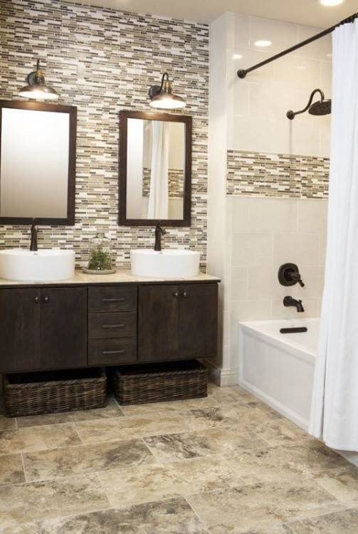 tile accent wall in bathroom gray mosaic tiled bathroom accent wall tile  accent wall small bathroom