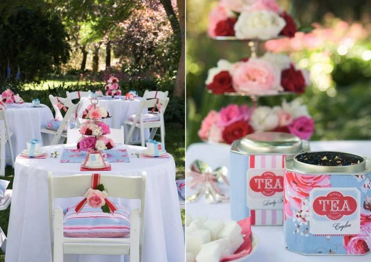 great way to decorate a backyard bridal  shower